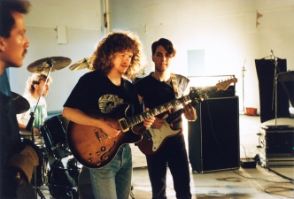 Late 80's video shoot with Peter Randall